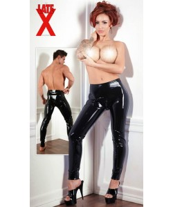Latex Leggins i Sort