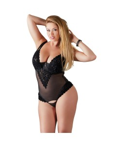 Plus Size Strip Body i Nylon med Similisten