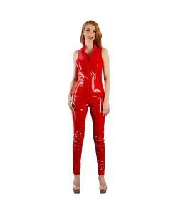 Lak Jumpsuit i Rød