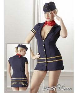 Fræk Stewardesse Uniform - Frække Kostumer