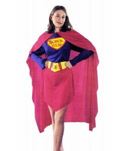 Super Hero - Superwoman Kostume S-L