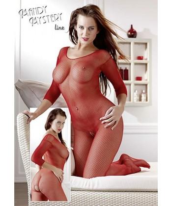 Net Catsuit i rød