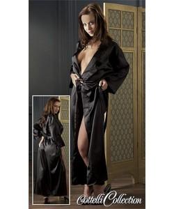 Blød Satin Kimono i sort