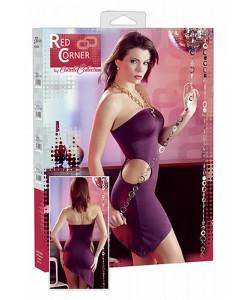 Violet Minikjole med cutouts og neckholder