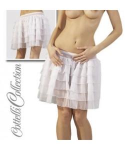 Petticoat strutskørte i hvid